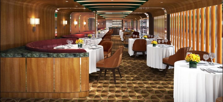 New Seabourn signature restaurant revealed.
