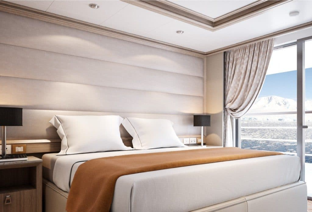 Artists rendering of the new Medallion Suite onboard Silver Cloud Explorer.