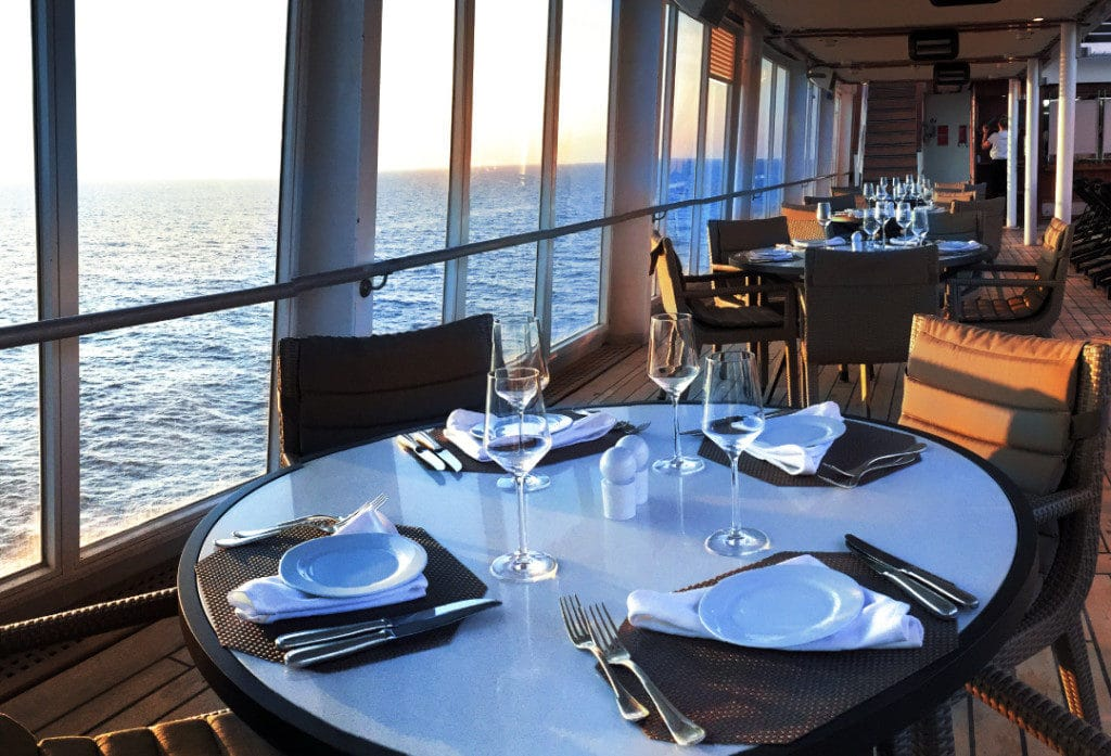The Patio is one of the most relaxed Seabourn Odyssey restaurants.