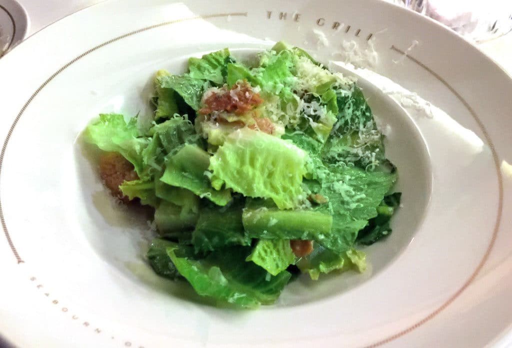The Grill's famous Caesar Salad, prepared table-side.