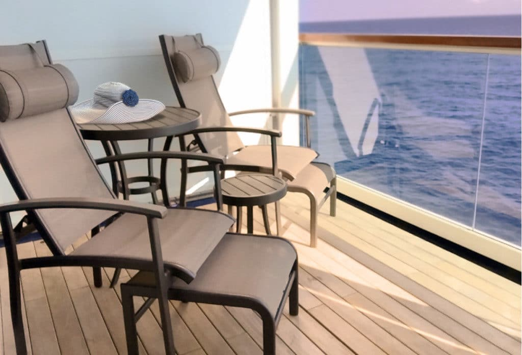 Seabourn Odyssey's teak verandas are a real luxury.
