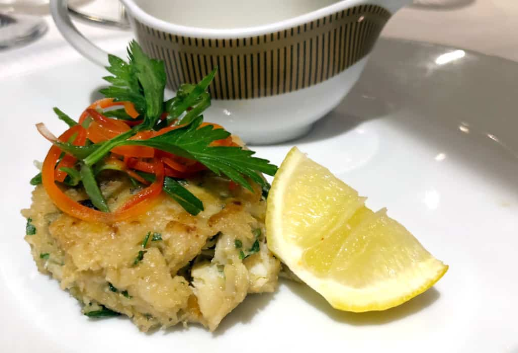 The excellent Jumbo Lump Crab Cake as served in Prime 7.