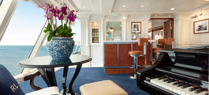 The Owner's Suite as remodelled during the Oceania Riviera refurbishment.