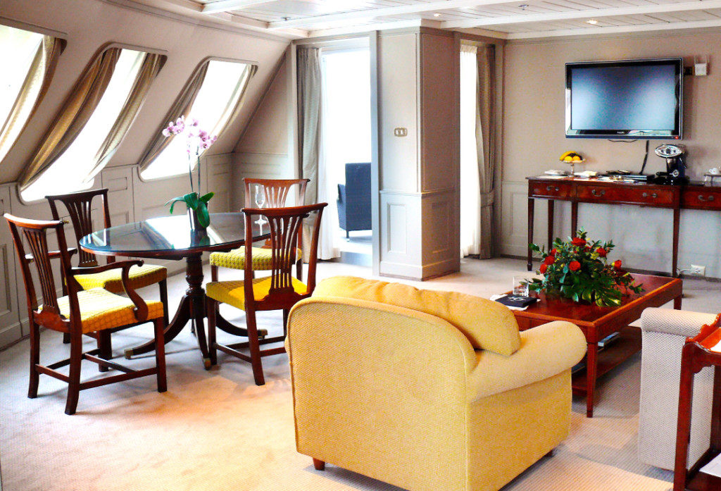 Silver Wind boasted enormous suites, like this Grand Suite (circa 2012).