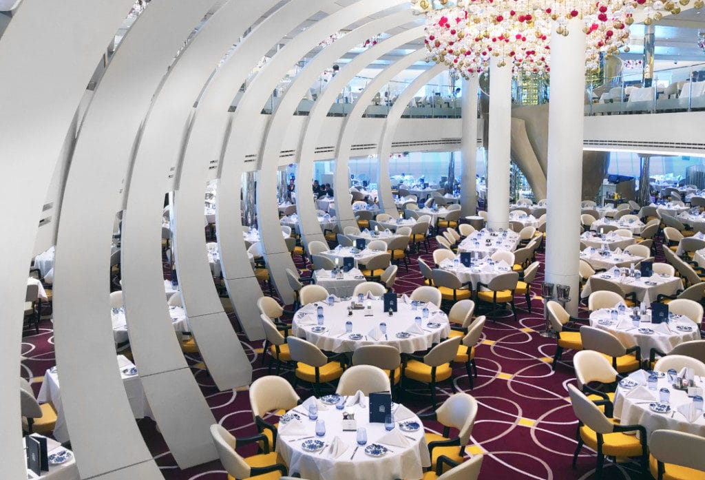 The spectacular main Dining Room on Nieuw Statendam.