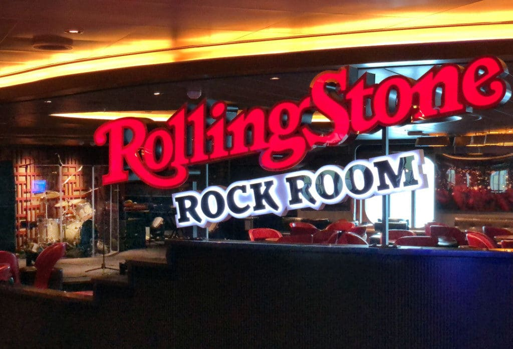 The Rolling Stone Rock Room is a crowd pleaser.