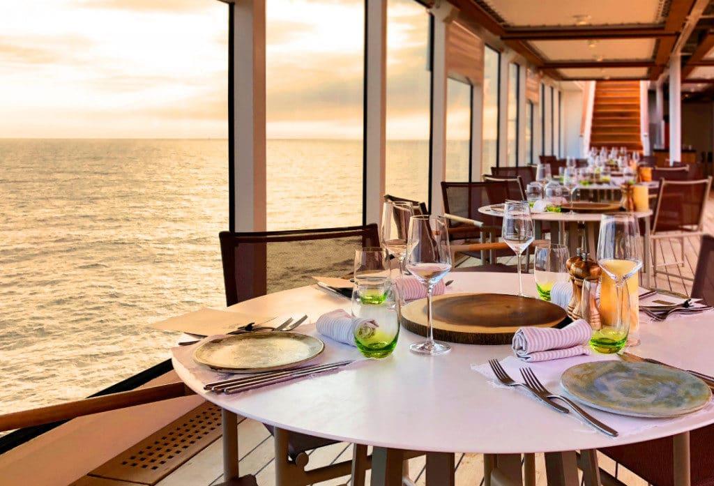 The Earth & Ocean restaurant on Seabourn Ovation.