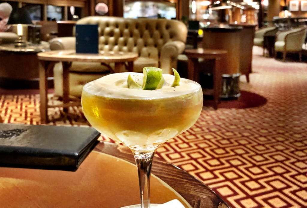 The Cunard cocktail called Punch Romaine à la Carpathia.